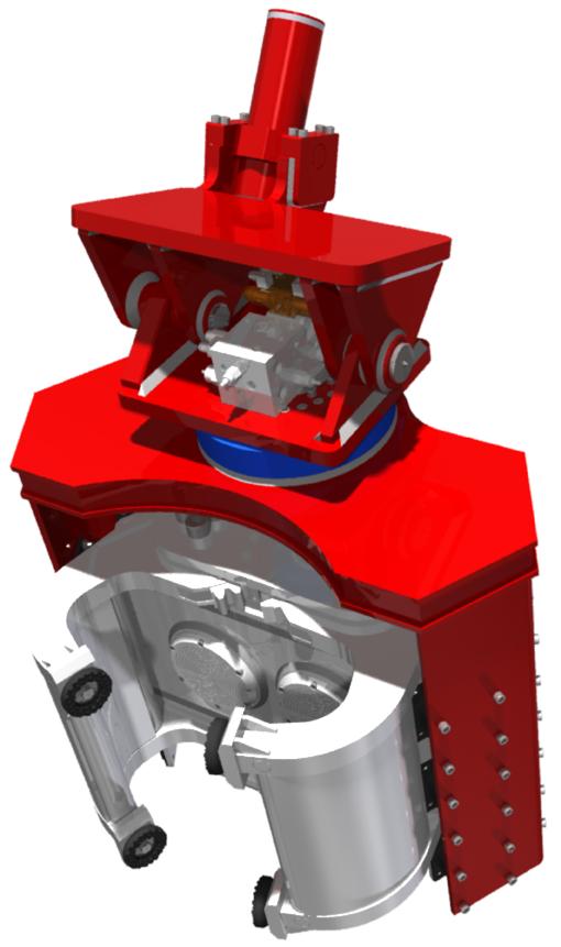 Экскаваторный вибропогружатель с боковым захватом OMS OVR SG